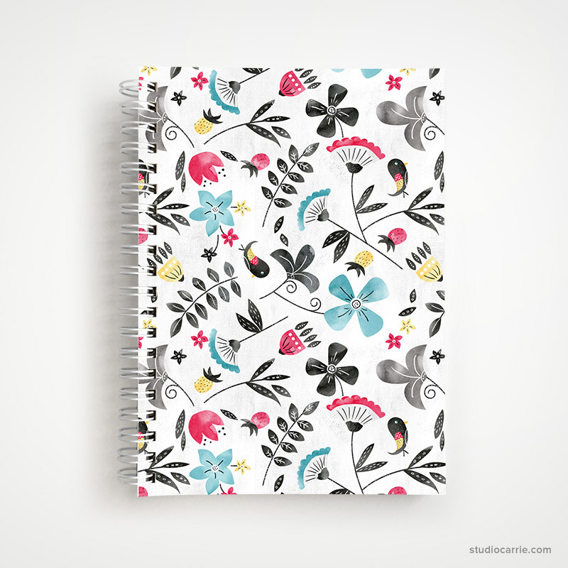 Retro Floral Notebook Designed by Studio Carrie