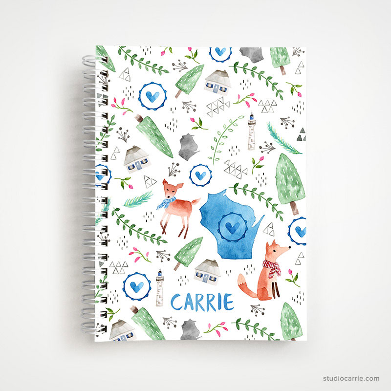 Wisconsin Outdoors Notebook by Studio Carrie
