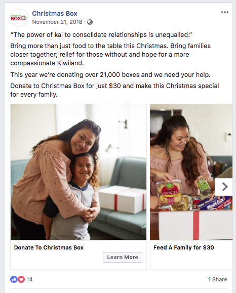 Social Awareness - Ads such as this carousel post was viewed by 20,980 unique users and had 46,012 impressions.