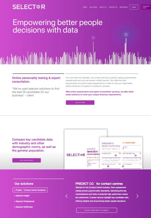 Selector-website-design