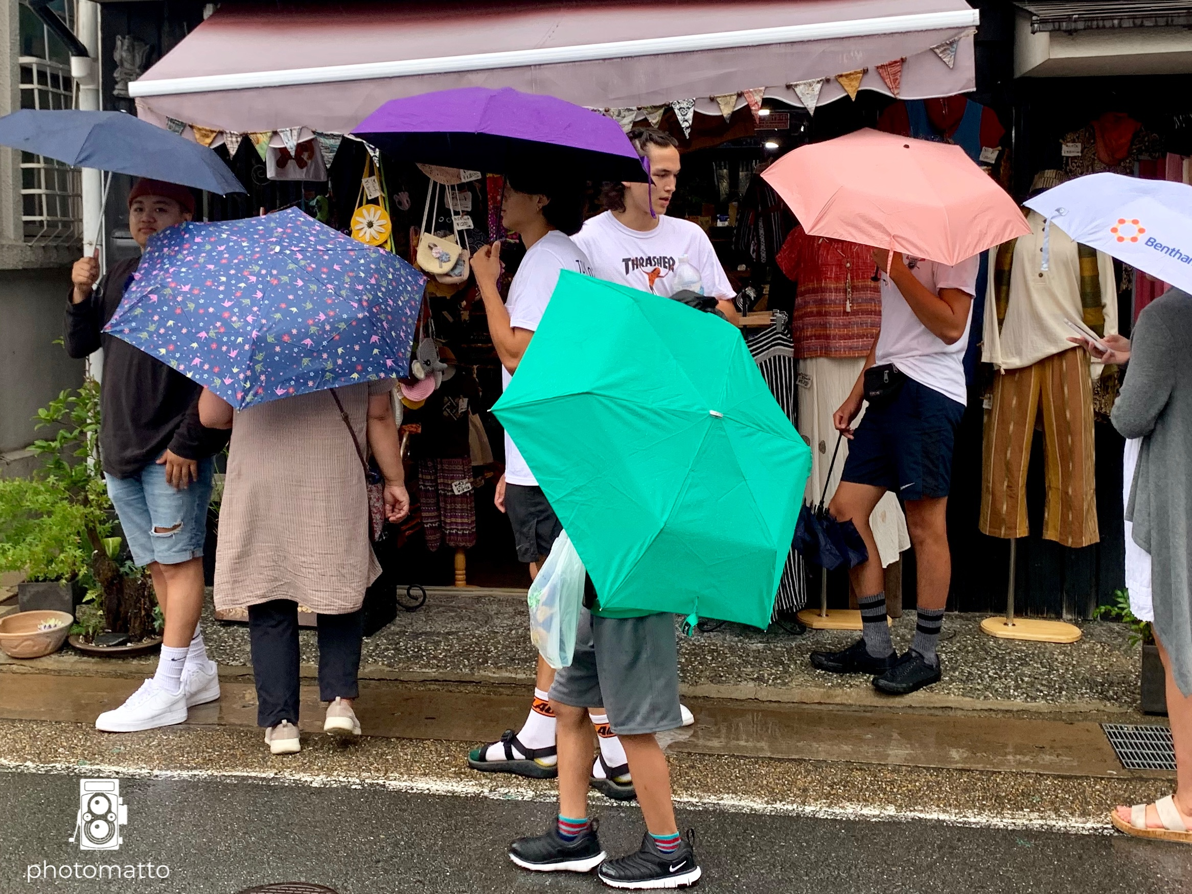 … and we quickly bought more umbrellas for everyone.