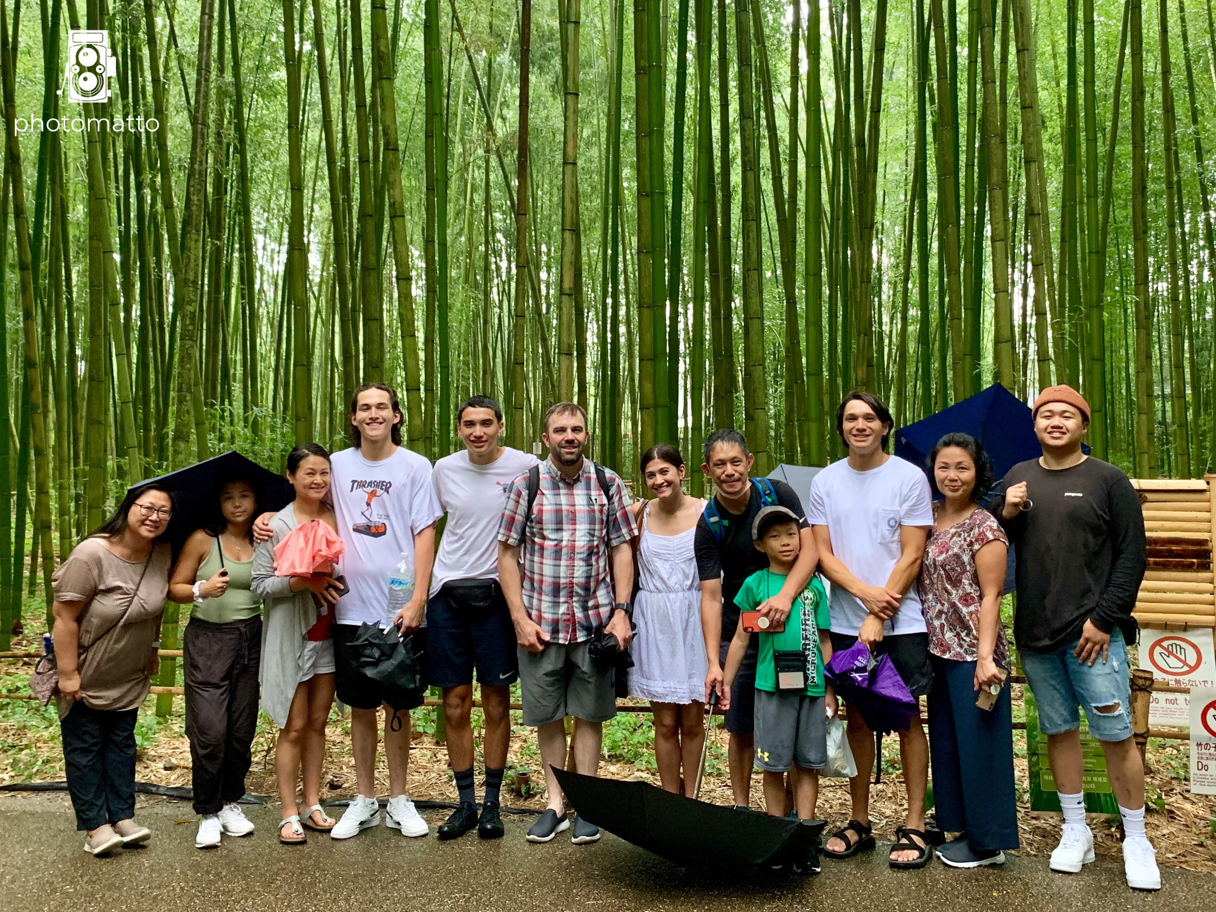 Our entire traveling group in Japan