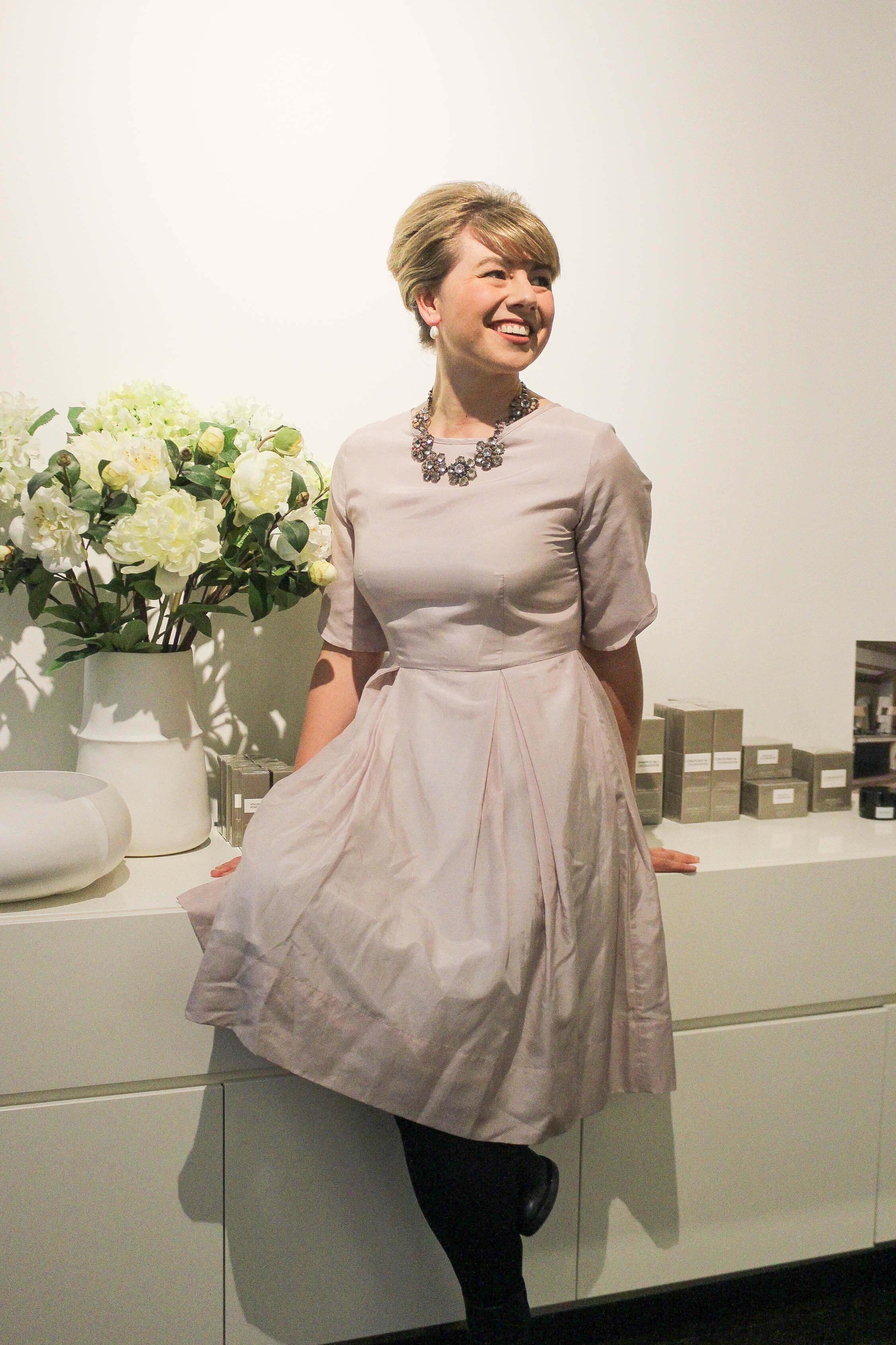 Wearing  The Jewel Dress from Wilson Trollope.