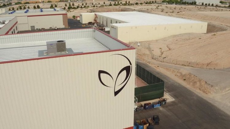 Bigelow Aerospace's alien logo / CBS NEWS