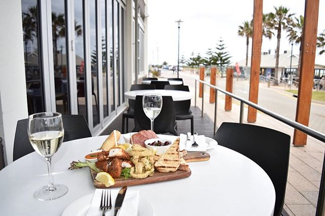 Spoil yourself with our delicious seafood platter for 2, accompanied with a frothy tap beer or sparkling wine! #thegrangehotel #grange #hotel #beach #seaside #southaustralia #Adelaide #food #shareplatter #delicious #gourmet #yum #dine #wine #beer #seafood