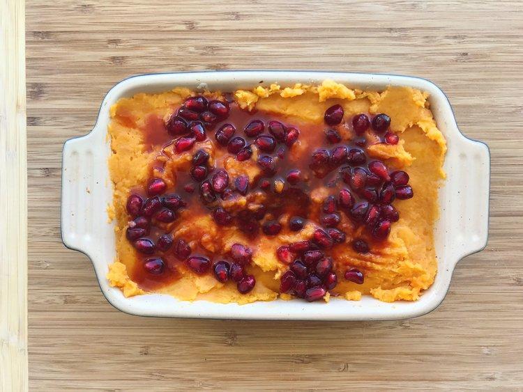 Protein Packed Sweet Potato Mash Fruzinga