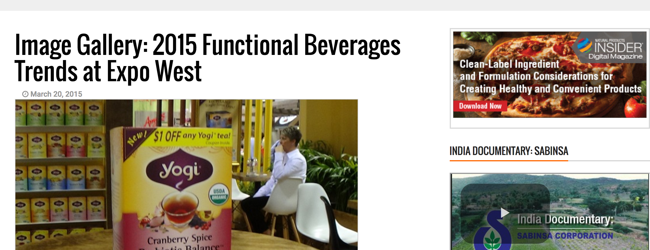 2015 Functional Beverages Trends at Expo West.