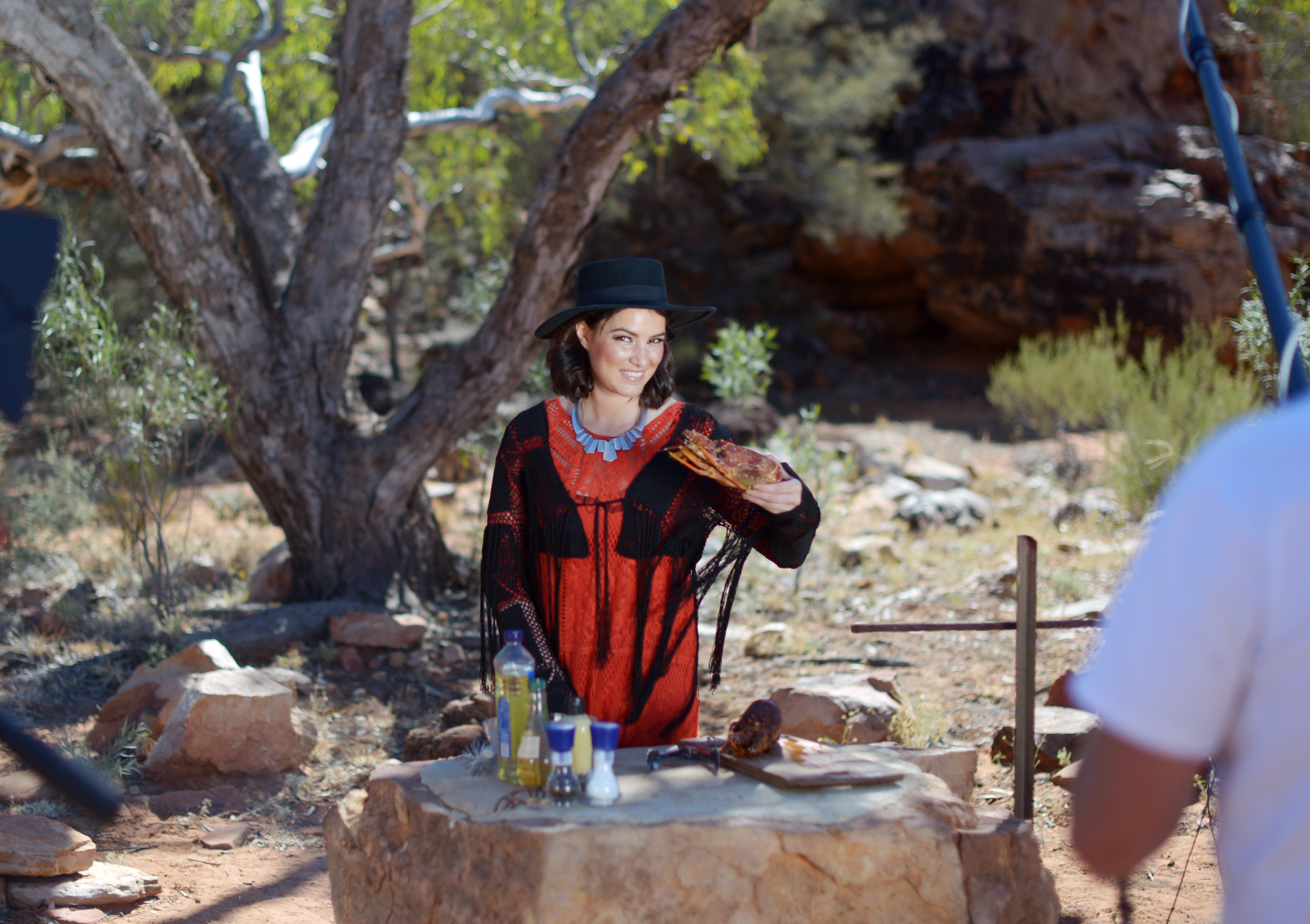 On location in Alice Springs.