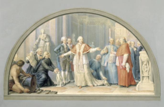 Figure 2. Stefano (1753-1835): Pius VI on a Visit to the Museums. Vatican, Museo Pio-Clementino. ß 2011. Photo Scala, Florence.