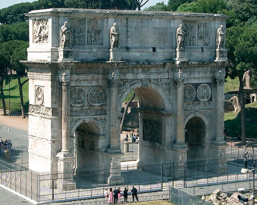 Fig. 1 The Arch of Constantine in Rome, seen from the north.