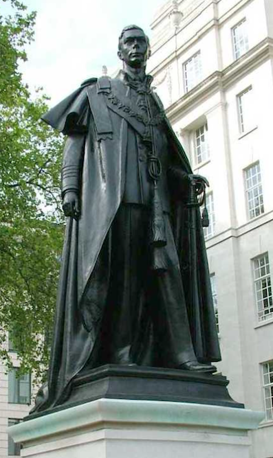 Fig. 7 Statue of King George VI located in Carlton Gardens, near The Mall in London.