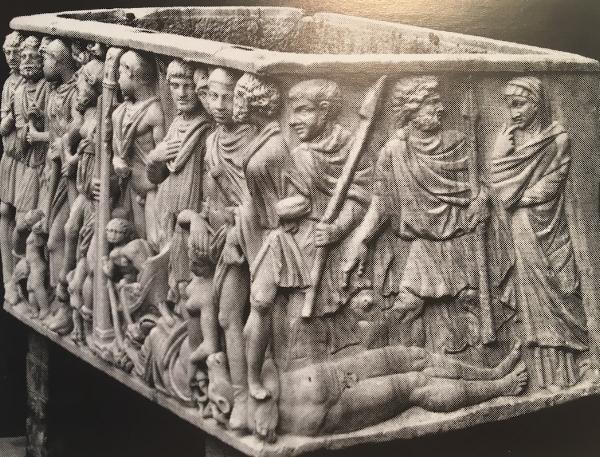 Figure 6. Sarcophagus, Theseus and the Minotaur, c. 250CE.