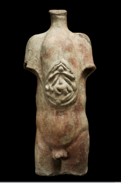 Fig. 3. Votive male torso from the Roman Republican period, reportedly excavated from Isola Farnese near Rome between 1871 and 1900. Photograph courtesy of Science Museum, London/Wellcome Images