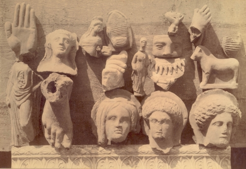 Fig. 6. Selection of objects from the excavations at Nemi. Courtesy of Nottingham City Museums and Galleries.