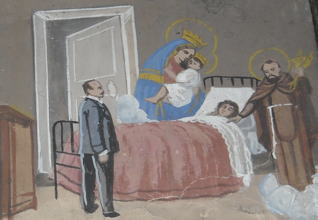 Figure 2. Painted ex-voto from the church of the Madonna del Carmine in Naples.Dedicated in 1926 by Maria Sannino. Used with kind permission of Carlo Raso.