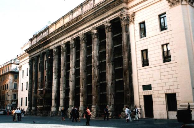 9. The Hadrianeum building in the Piazza di Pietra, Rome. Photo J. Hughes