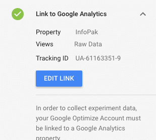 link optimize with analytics