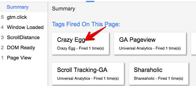 gtm tags firing