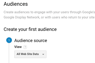 create audience