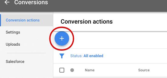 create a new conversion