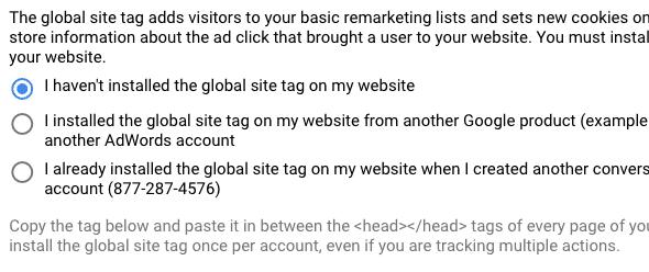 global site tag