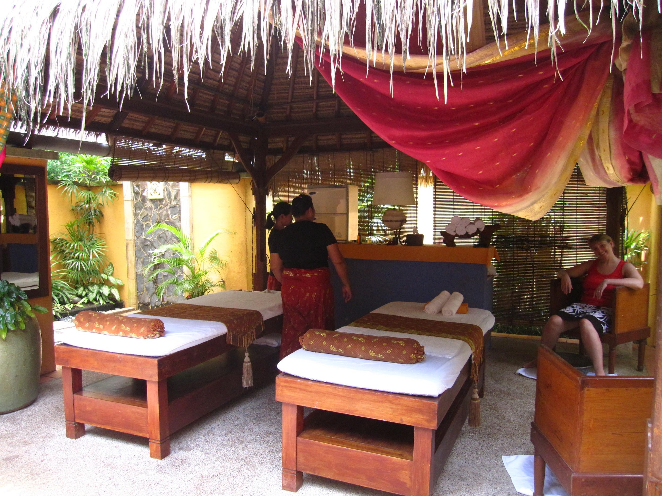 The lovely outdoor spa area at Mayang Sari, Bintan