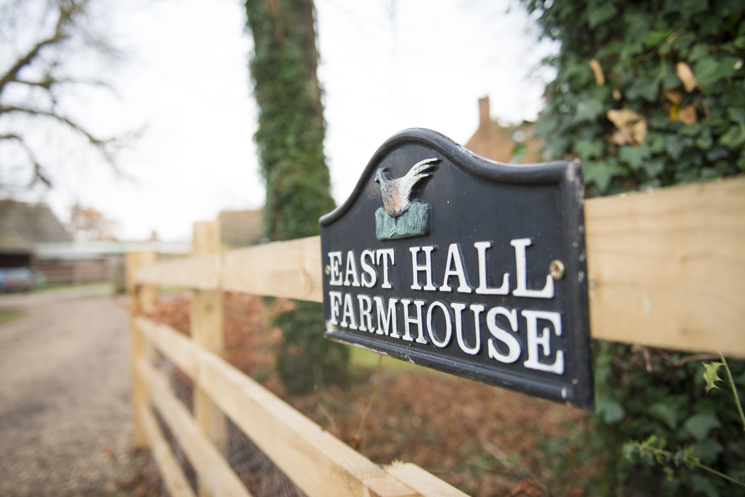 East Hall Farmhouse is located on the Bowes-Lyon Estate, St Paul's Walden, Hertfordshire.