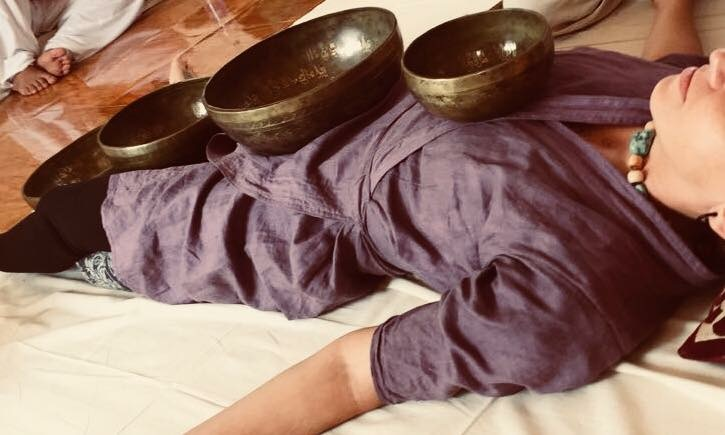Sound Massage Therapy - A sound-induced full body massage where vibration, using Tibetan singing bowls awakens the body's natural healing ability