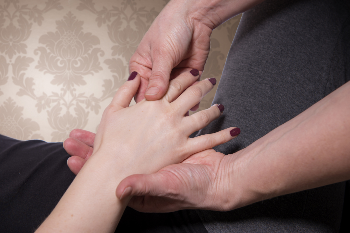 The simplest gesture such as touching a hand can communicate a thousand words…
