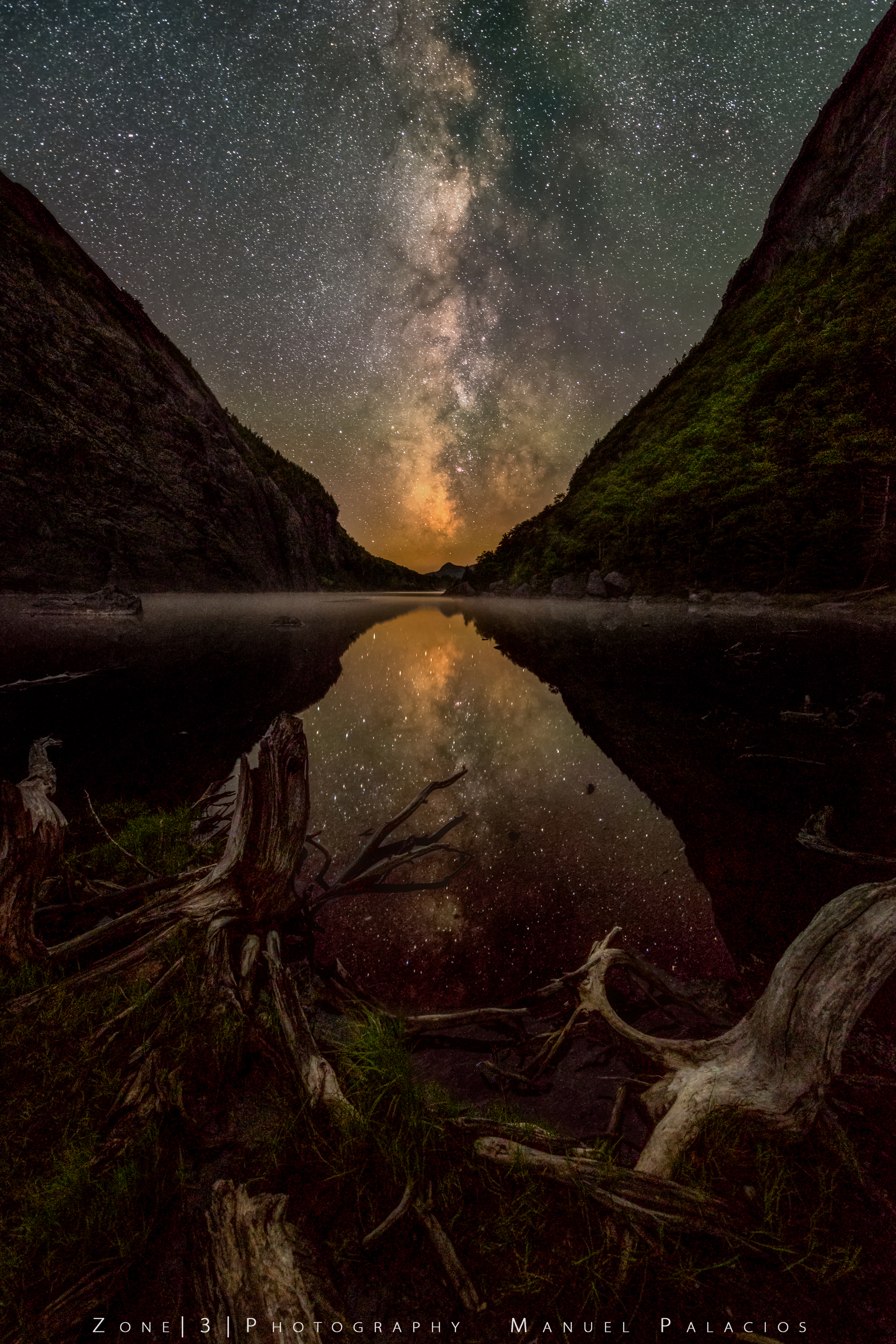 A Starry Night Over Avalanche Lake