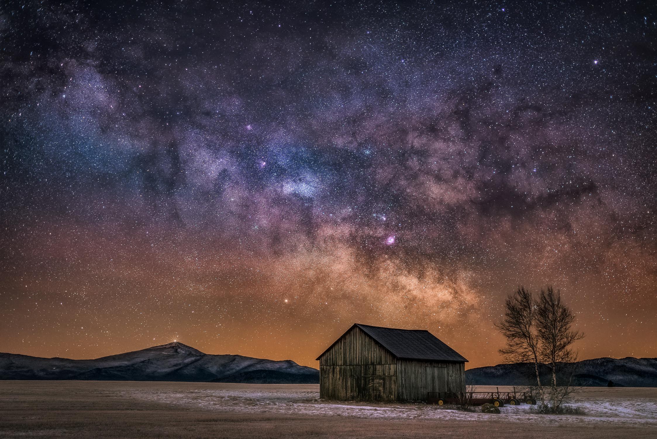 """A Starry Night at the Norman Ridge"" - The Norman Ridge, Adirondack State Park, New York"
