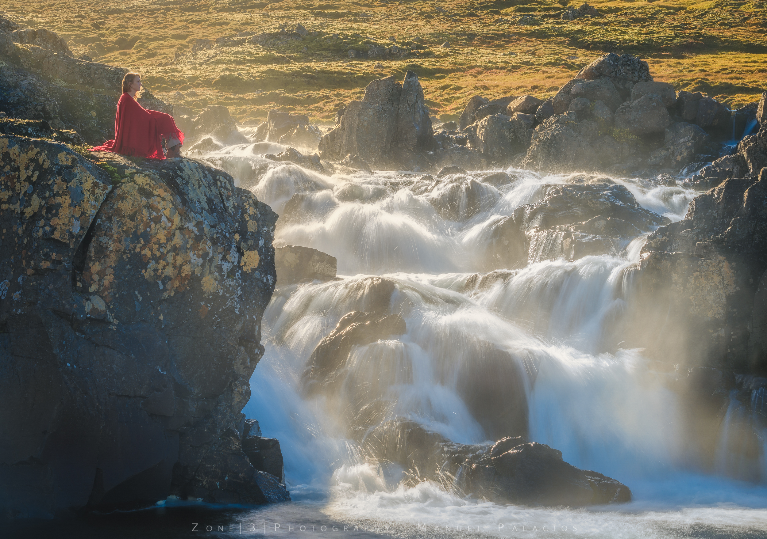 Sunrays Falls, Iceland.