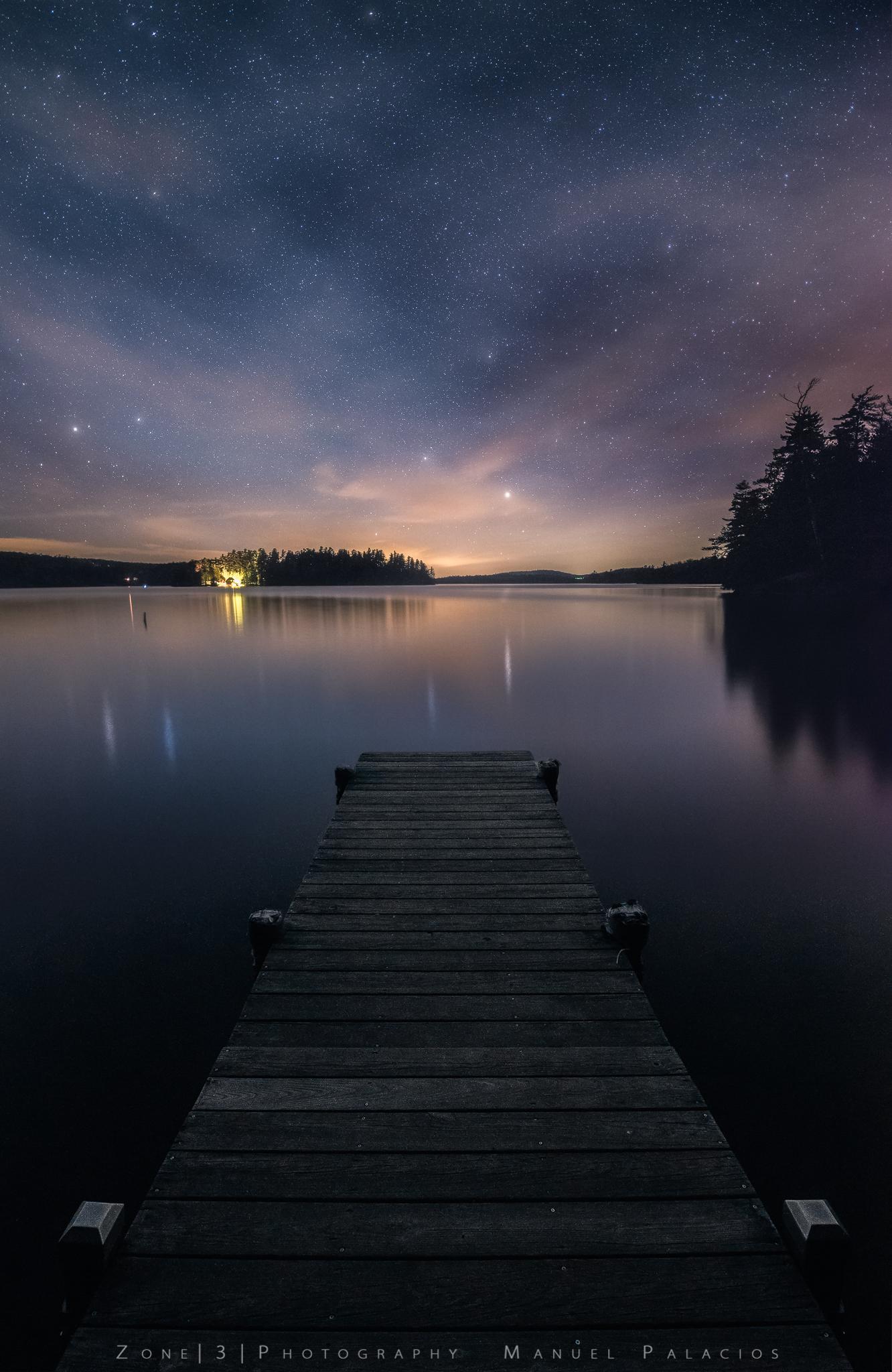 A Starry Night Over Saranac Lake
