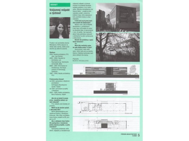 Fórum architektúry 04/2007