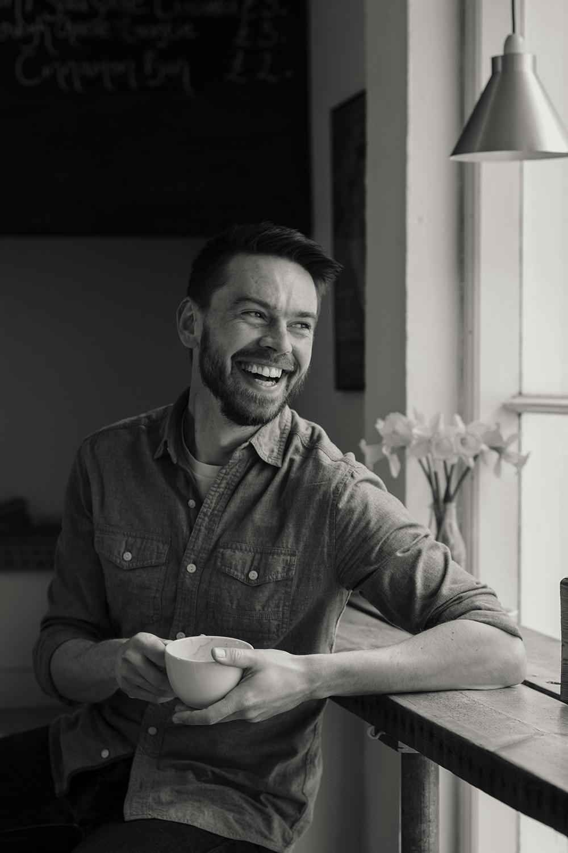Kaj Skjervik in Grounded coffee shop 21st March 2016