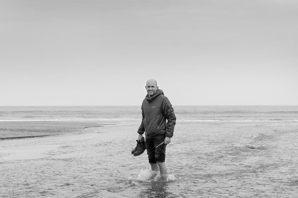 Matt at Holywell Bay, 27th Feb 2016