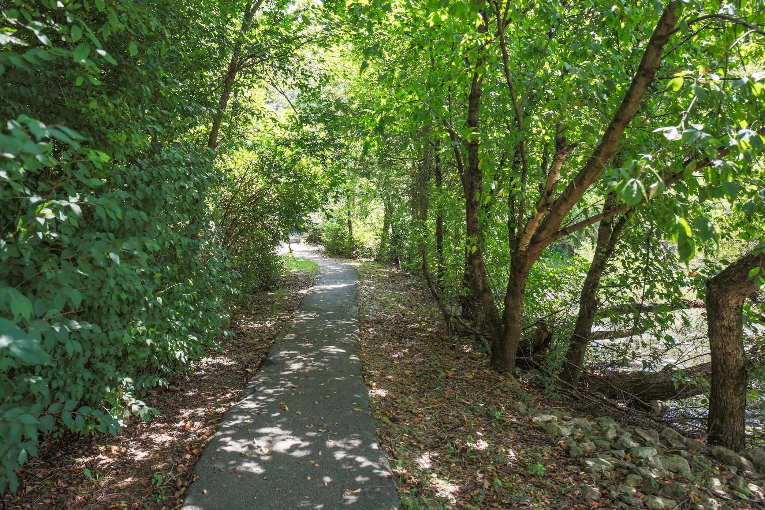 Get fit outdoors on the jogging trails through the woods with fresh air and peaceful scenery.