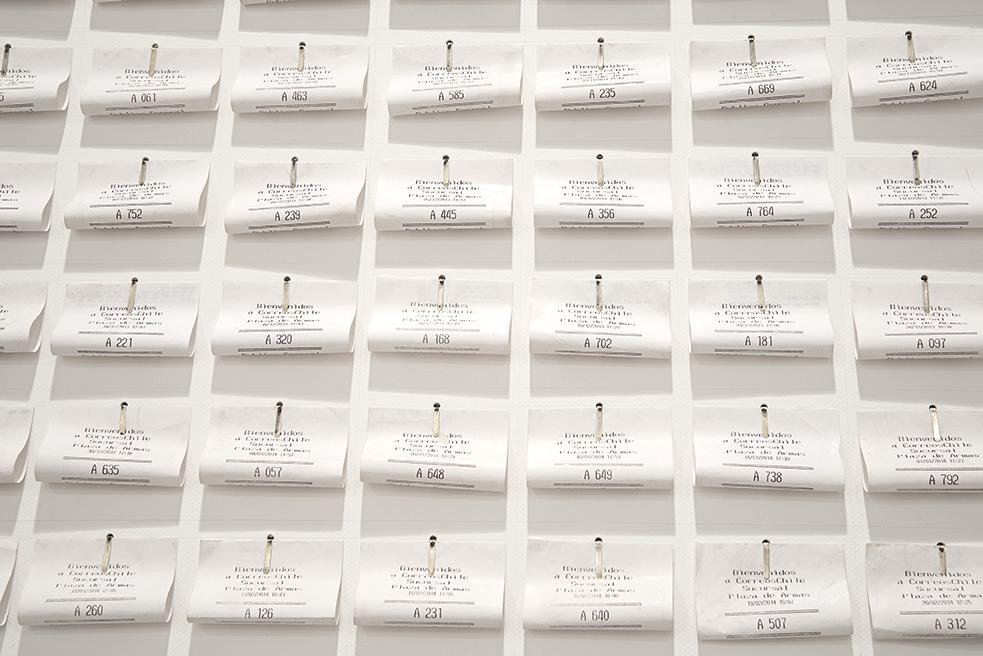 Colección de números de atención de Correos de Chile de la Plaza de Armas