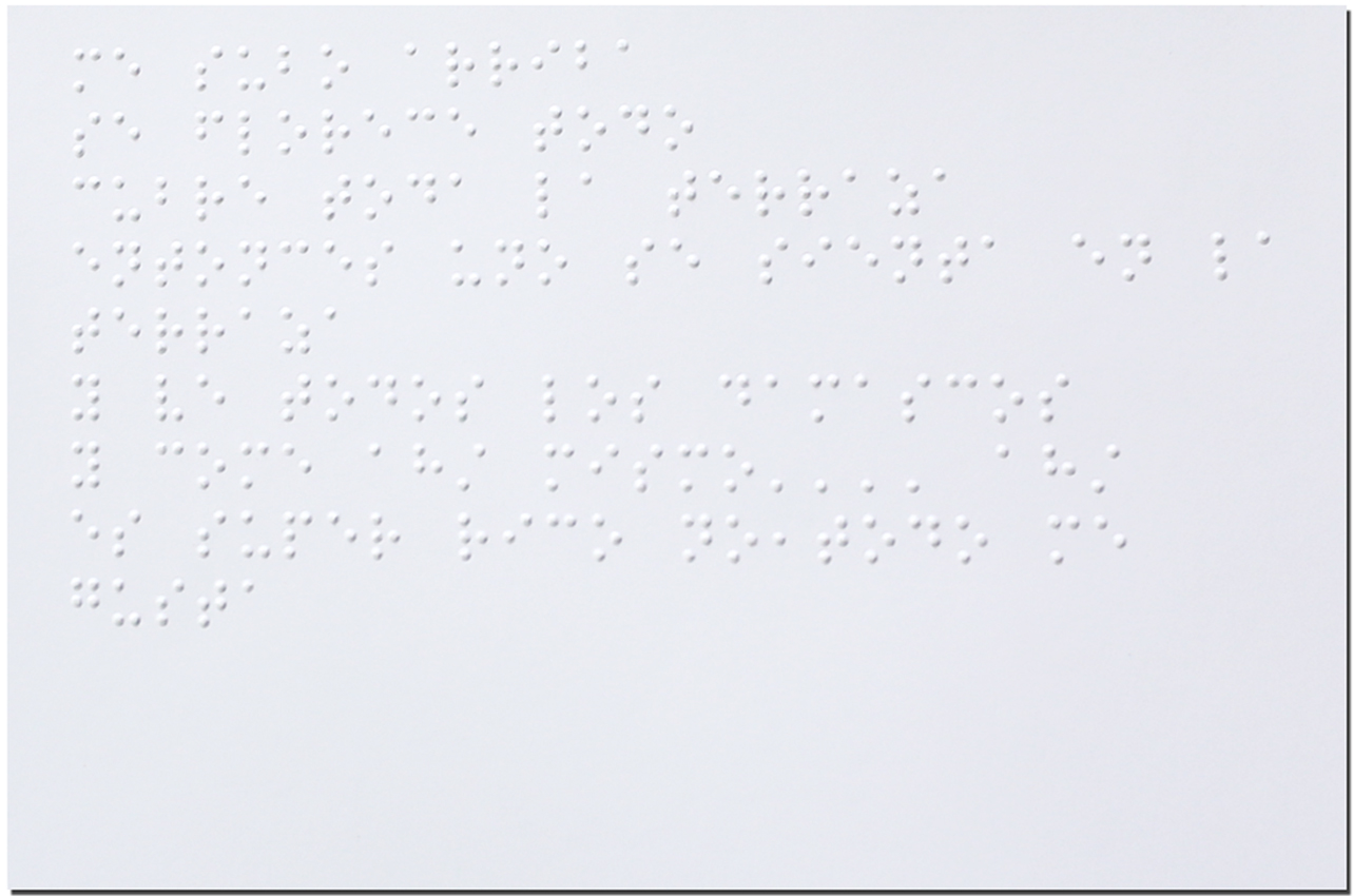 Postal en braille, entrevista 333. (Braille Postcard, interview Nª(333).