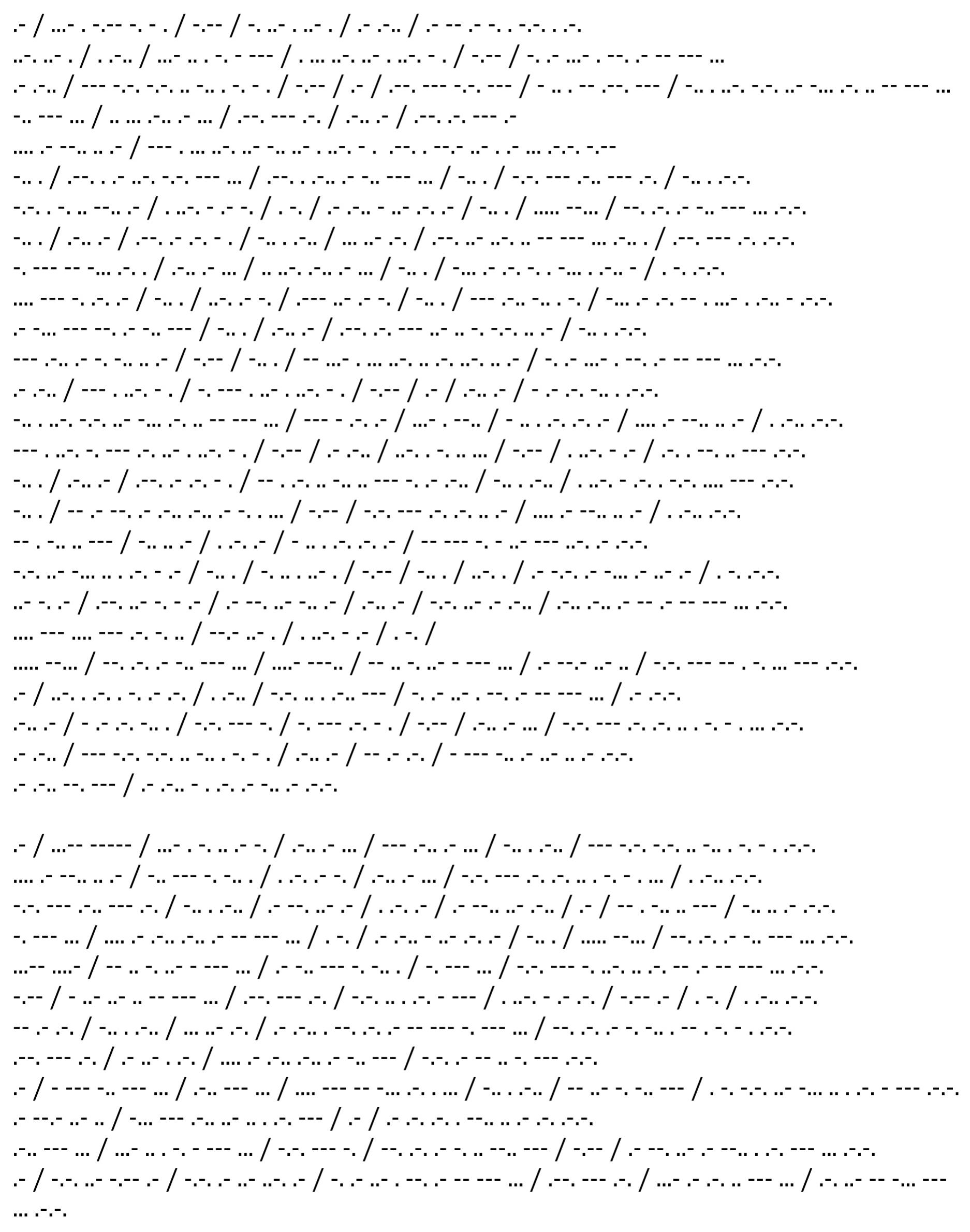 Traducción al Morse. (Morse Translation)