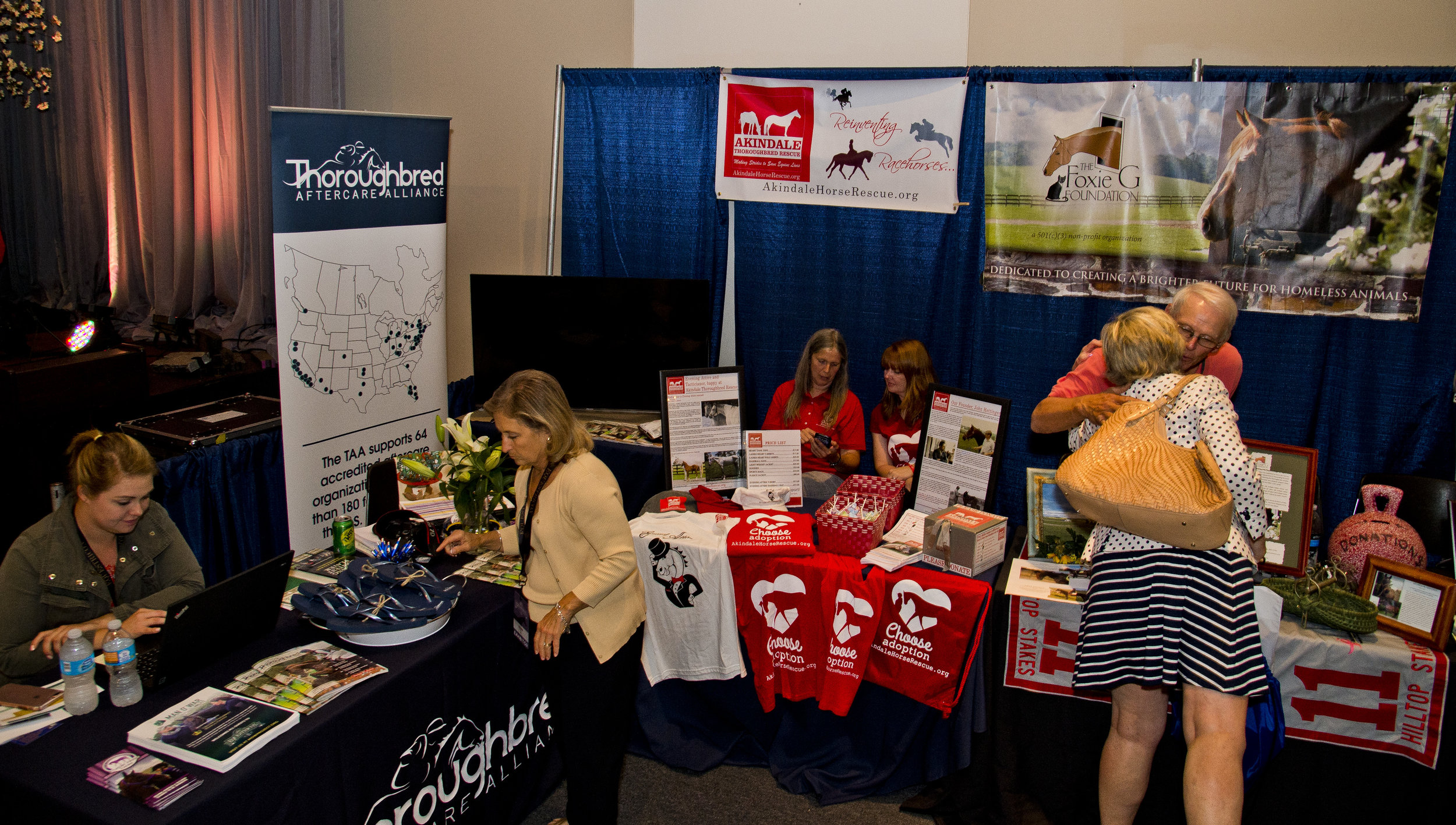 The TAA and several of its accredited organizations in the TAA Aftercare Hub at Equestricon 2017 (Eclipse Sportswire)