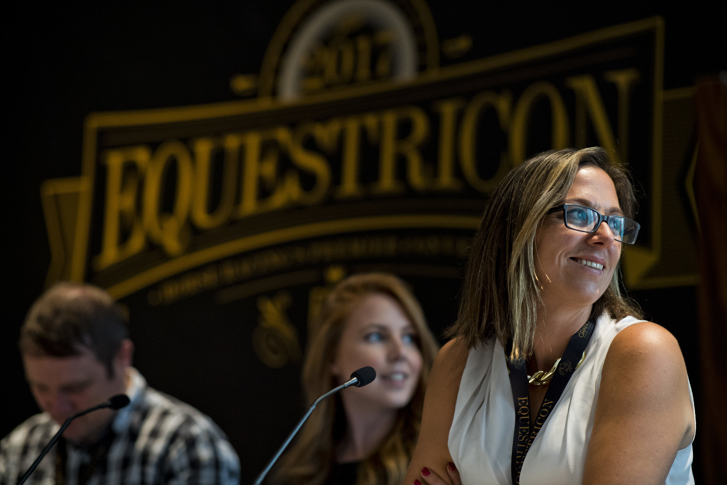 """Panelists on the """"Social Media in Horse Racing"""" Panel, presented by MHBA and Maryland Million, Ltd.at Equestricon 2017. Eclipse Sportswire."""