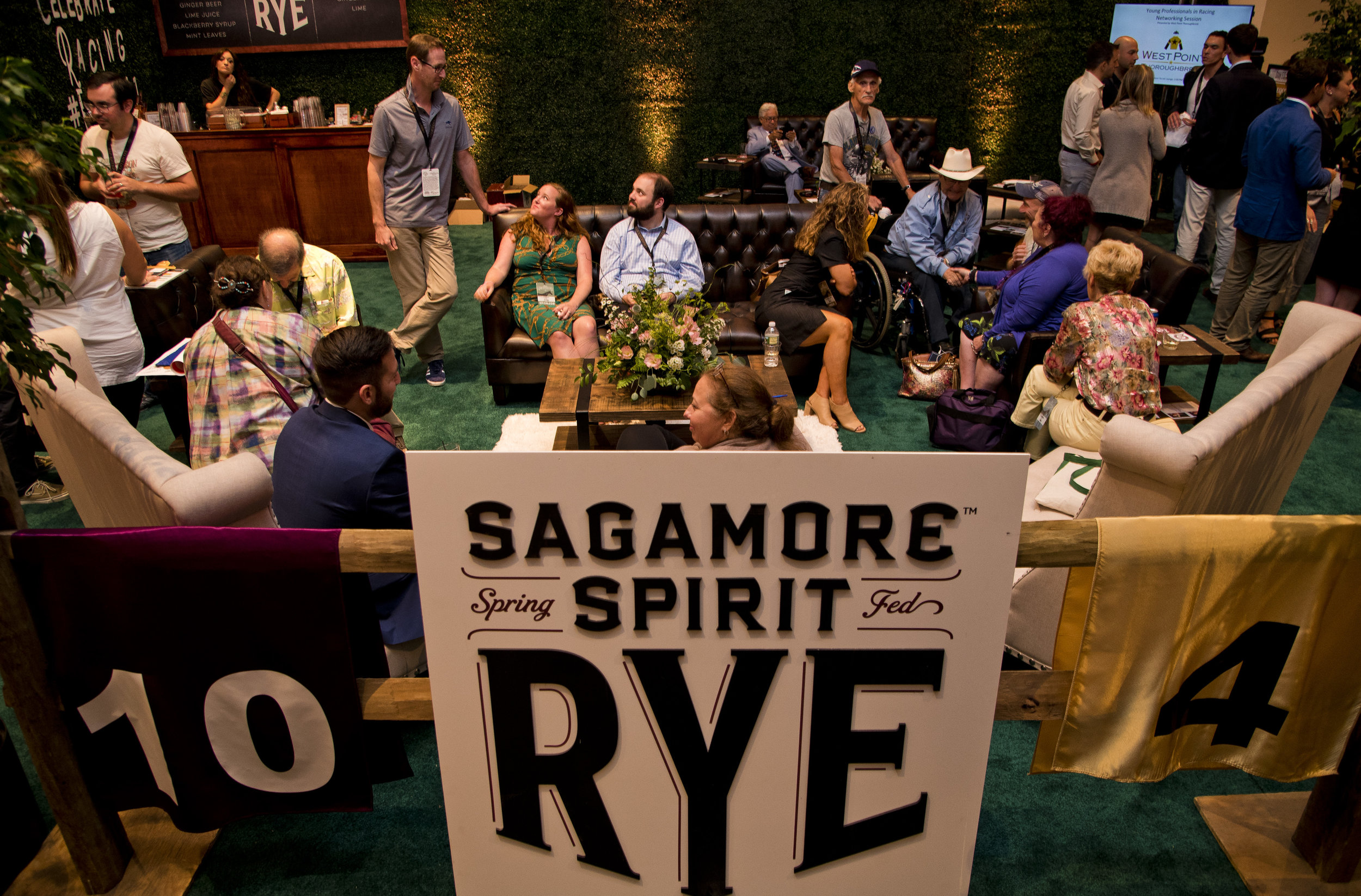 Guests networking in the Sagamore Social Lounge at Equestricon 2017.