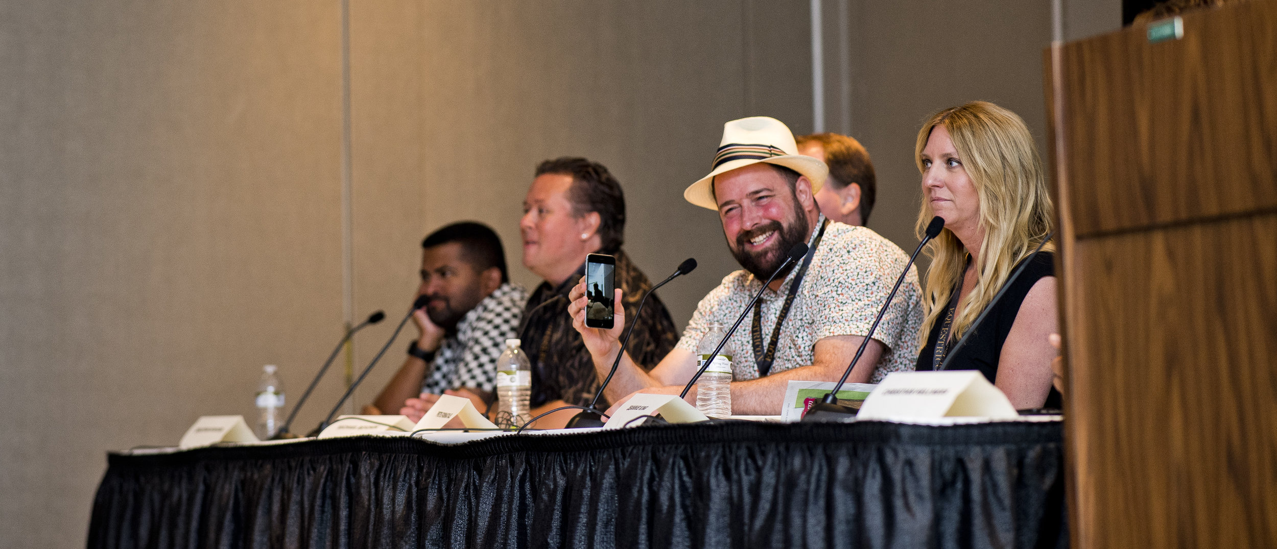 Jonathan Kinchen, Paul Matties, Michael Beychok, Peter Fornatale, and Jeannie King discuss Tournament Handicapping at Equestricon® 2017