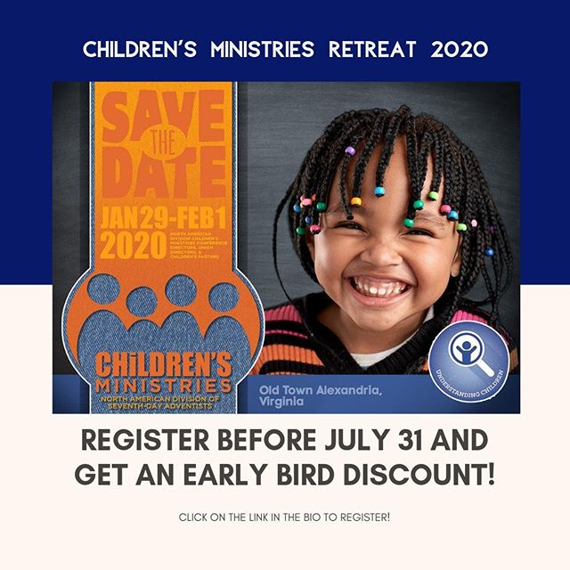 Register before July 31 to get the Early Bird rate! We can't wait to see you! #ChildMinTreat20 #ChildrensMinistries #ChildMin #KidMin #Retreat #Parents #Parenting #Children #Kids #SaveTheDate #EarlyBird #Love #Jesus #Christian #Leaders #Leadership