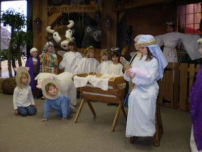 Our Christmas pageant didn't bother with the stuffed cows.