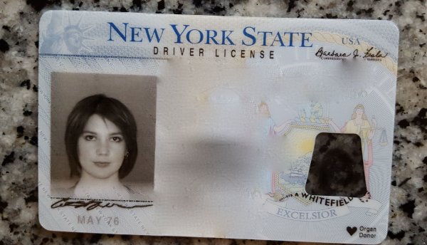 You can barely see the regrettable highlights in New York State's latest license iteration. But trust me, they're there. (Seriously, my friends always double-take when they see my license and ask if it's really me. It's, like, droid me.)