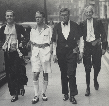 Members of the Men's Dress Reform Party, 1937.