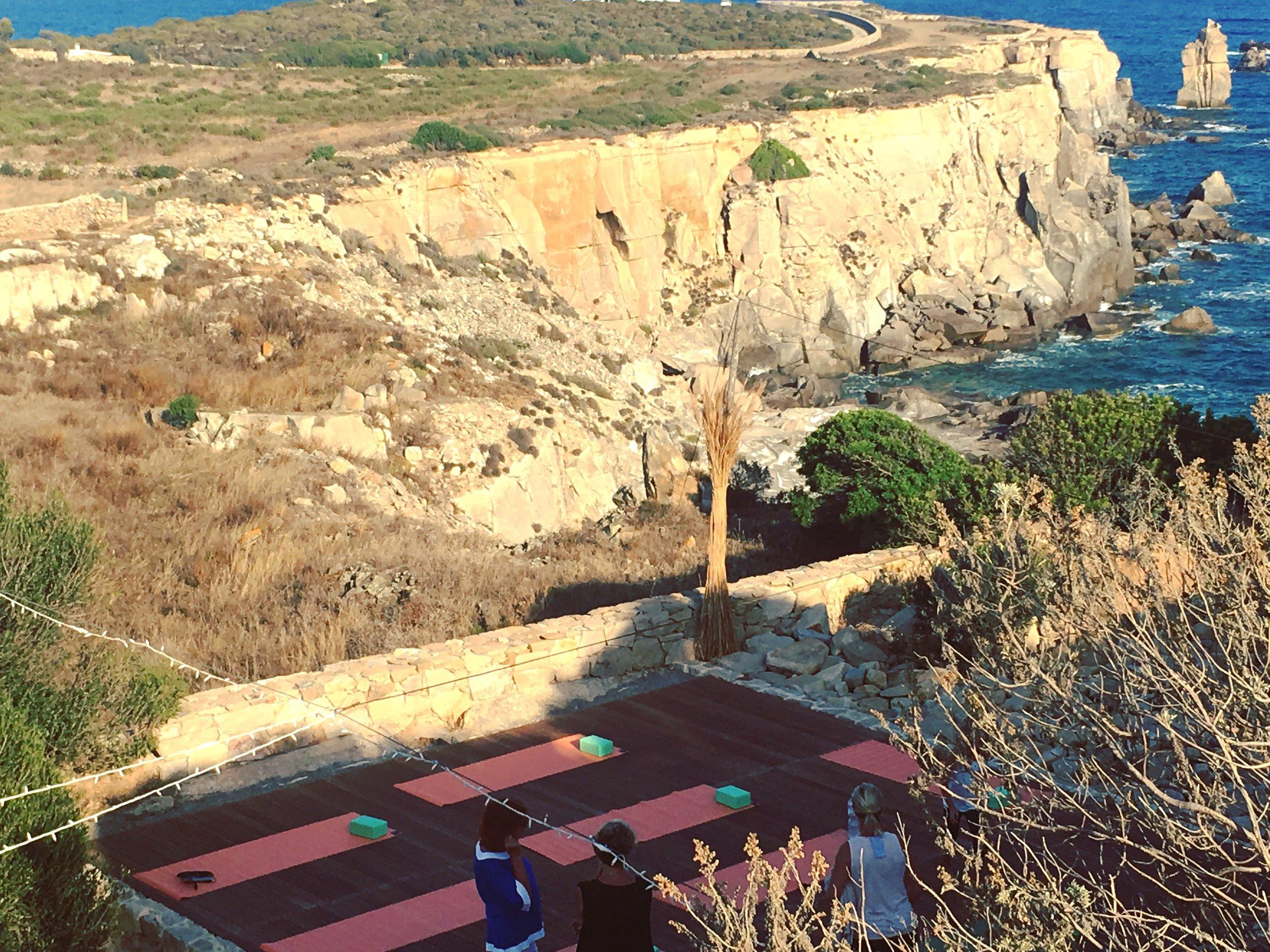 Yoga class -