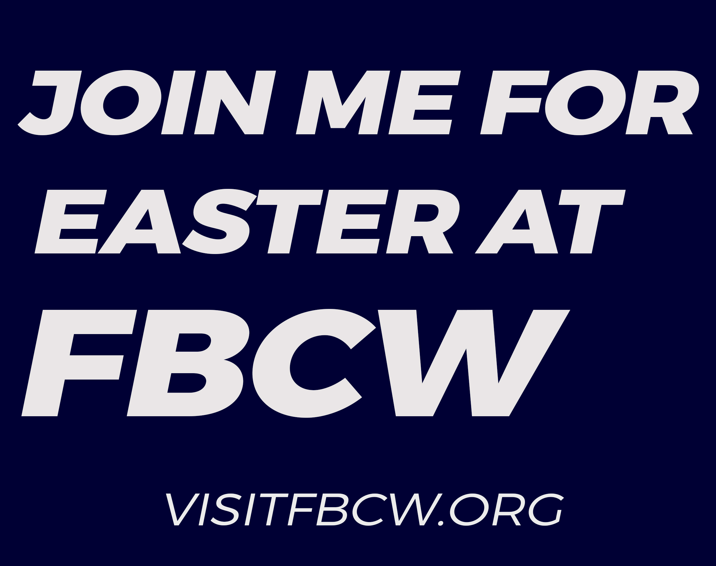 Join me for Easter